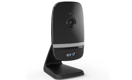 Black home security camera