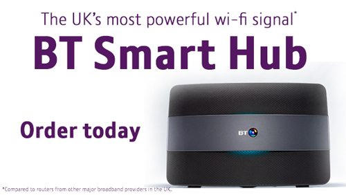 BT Smart Hub call to action