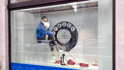 Display window at newly restored Canada House