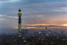 BT Tower at dawn, 1985