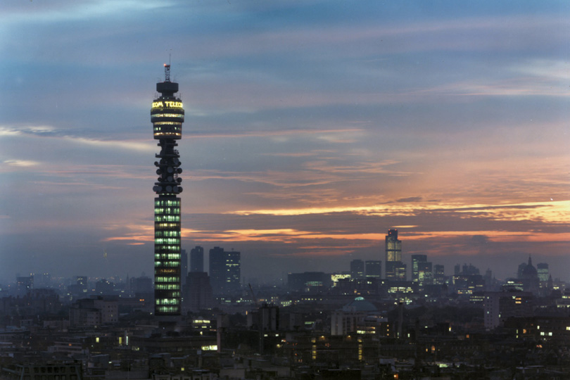 BT Tower at dawn. 1985.
