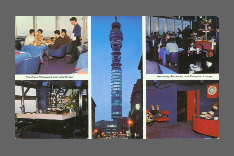 BT Tower souvenir postcard.