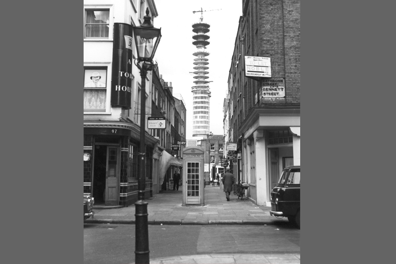 BT Tower under construction. 1963