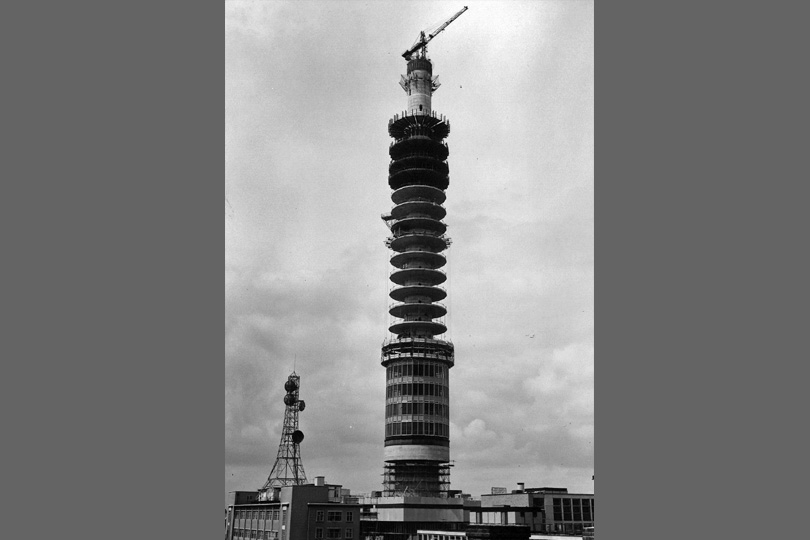 BT Tower under construction. 1964.