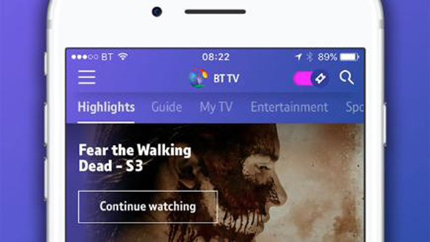 New BT TV App
