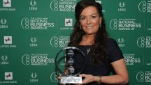 Emer Timmons with the Business of the Year award