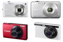 Canon PowerShot A3400 IS, Nikon Coolpix S4300, Panasonic Lumix XS1, Sony WX50