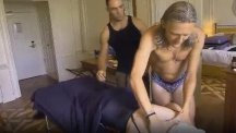 Jimmy Bullard interrupts Edwina Currie's massage