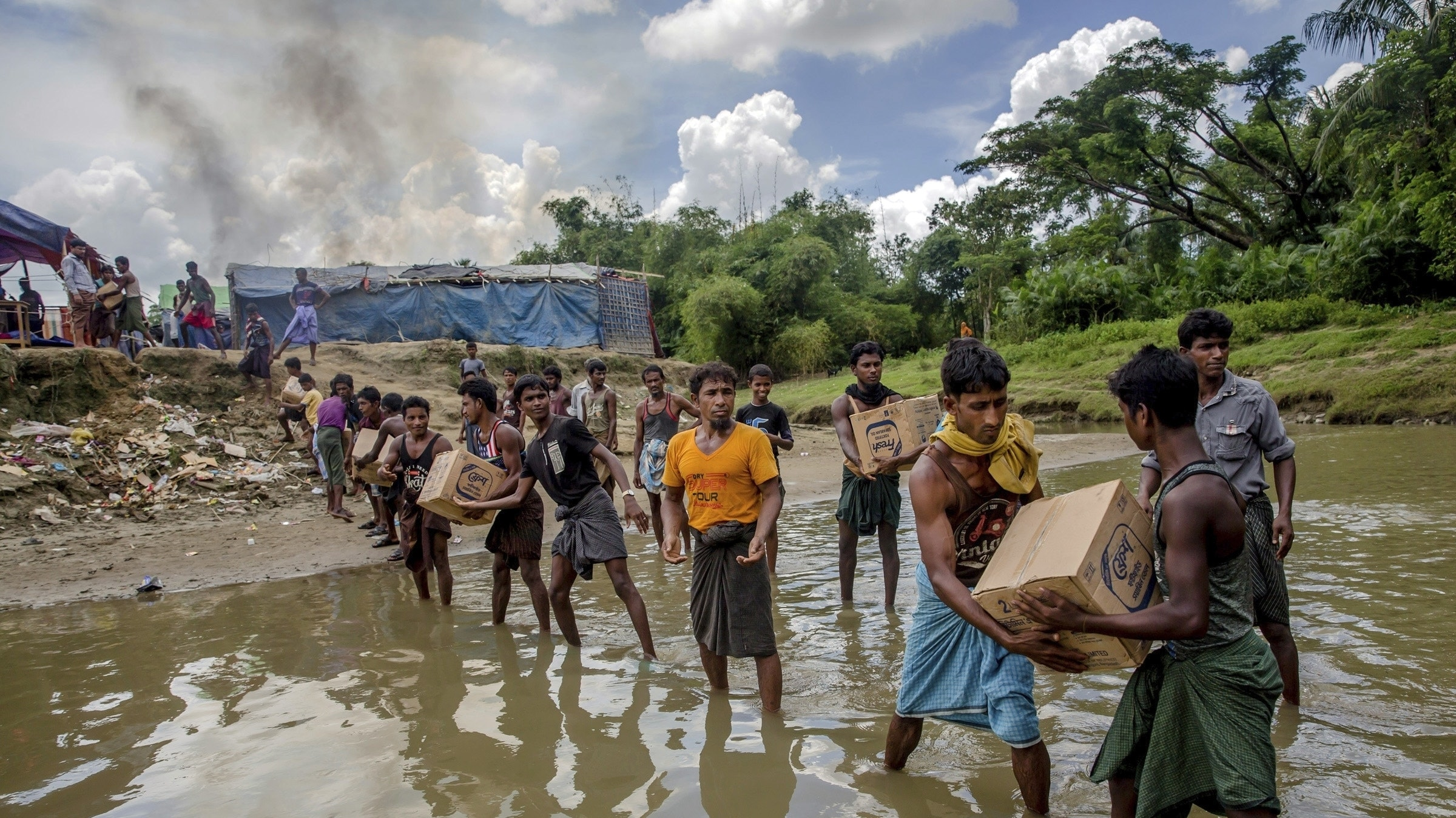 Myanmar Is Building Military Bases on Torched Rohingya Villages, Rights Group Says