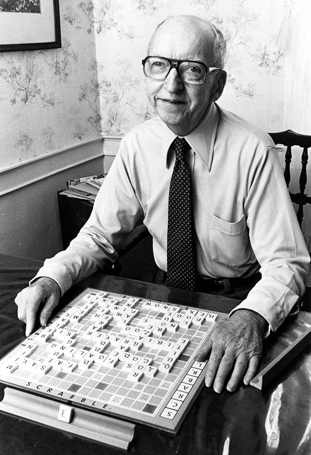 Scrabble inventor Alfred Butts in 1974