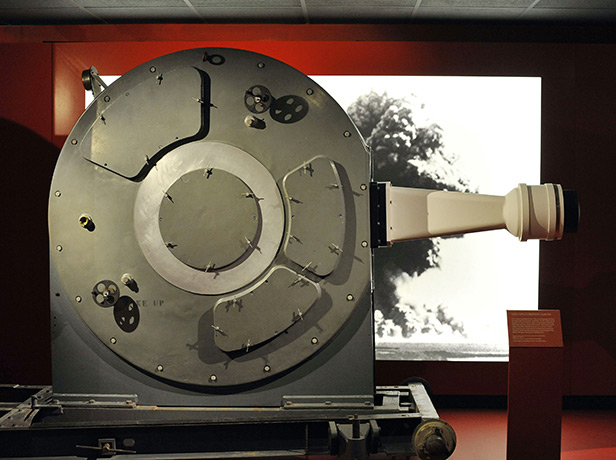 High-speed camera that filmed Britains first atomic bomb being dropped