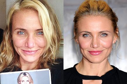 Cameron Diaz with and without makeup