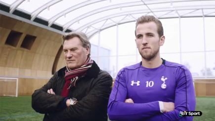 Screengrab of former England manager Glenn Hoddle and Spurs striker Harry Kane.