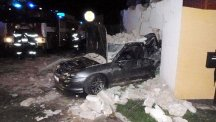 Car driven by drunk driver though a house in the Czech Republic. Photo credit: CEN