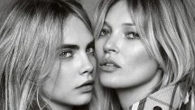 Cara Delevingne and Kate Moss star in the latest My Burberry Campaign (Burberry/Testino)