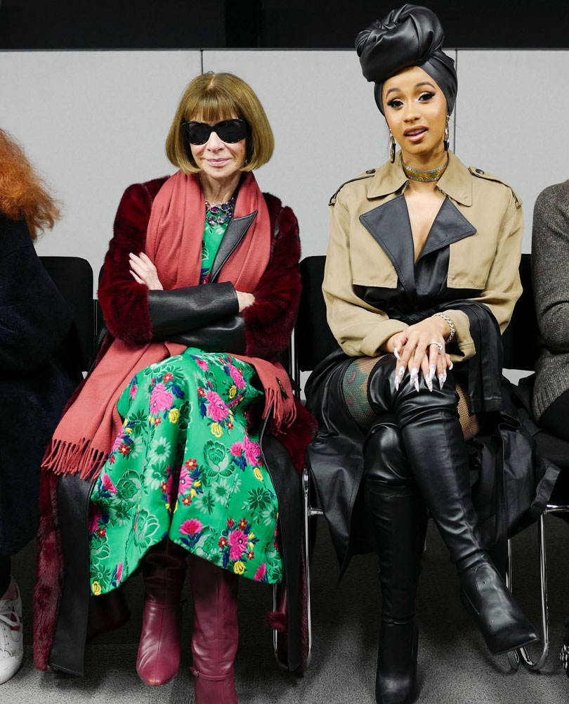 Cardi B and Anna Wintour