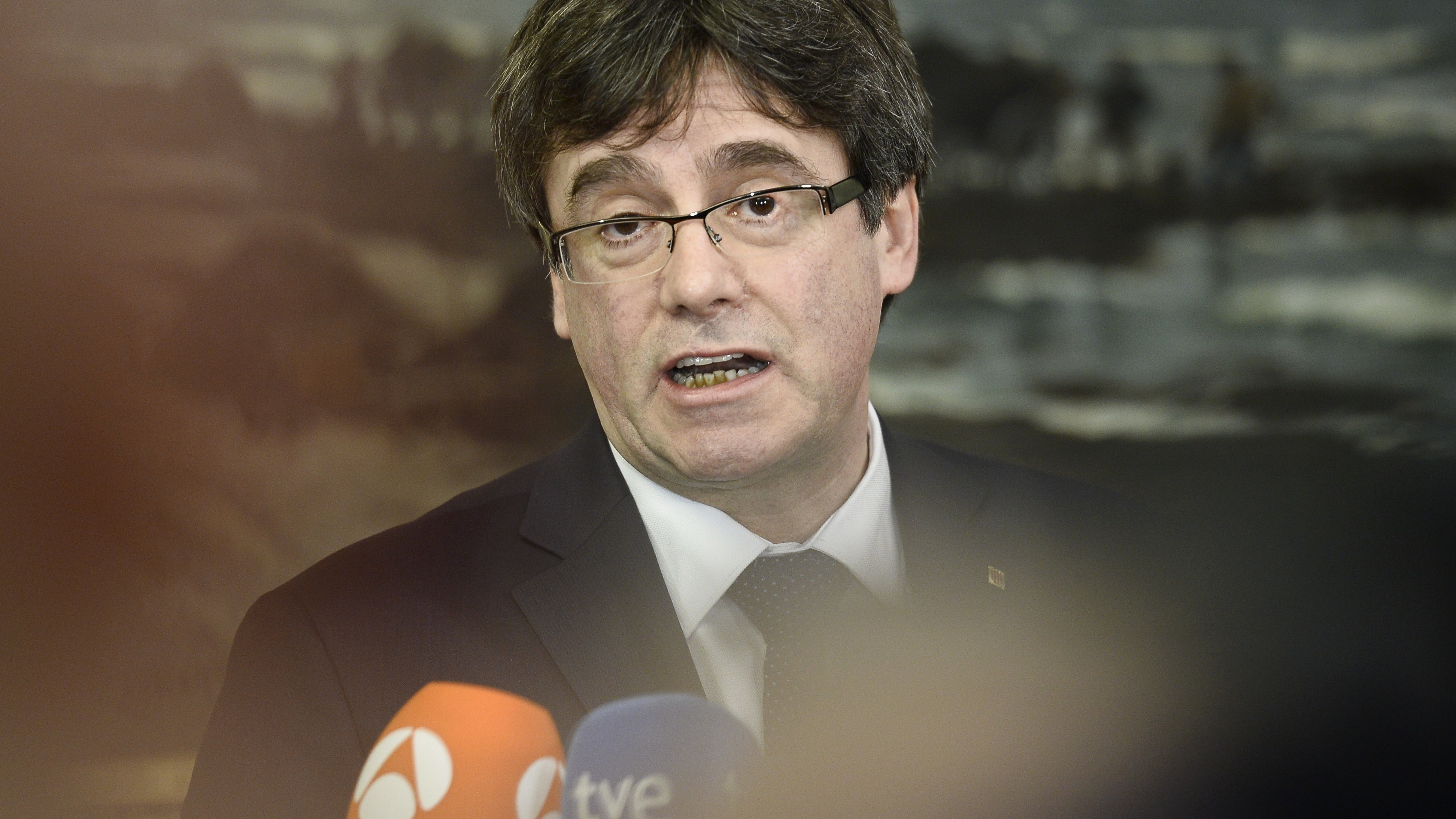 Catalan leader arrives in Denmark