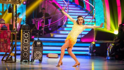 Caroline Flack, winner of BBC's Strictly Come Dancing 2014. Photo credit:  BBC/Guy Levy