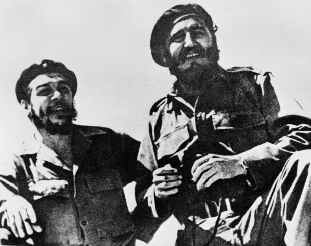 Che Guevara and Fidel Castro together in 1958.