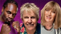 Audley Harrison, Gary Busey and Kellie Maloney