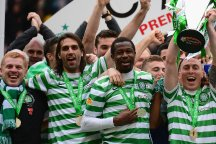 Celtic lifted the Scottish Premier League trophy last season