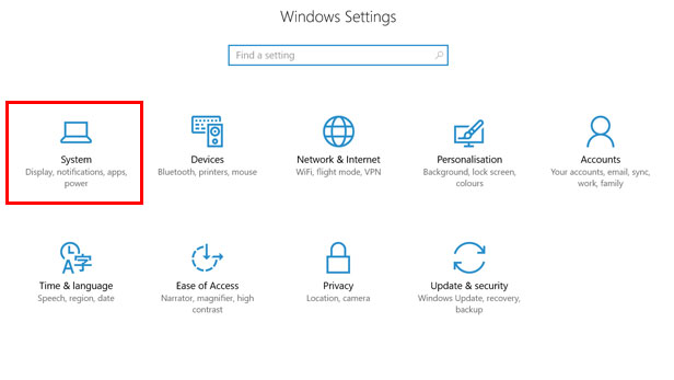 Changing the default browser on Windows 10