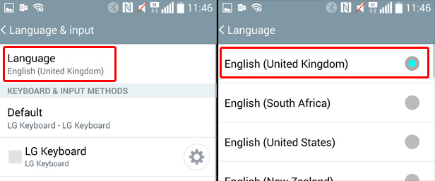 How to change system language settings in Android, iOS and Microsoft