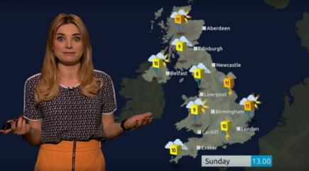 Channel 5 weather girl Sian Welby is at it again - check out her puntastic Batman v Superman broadcast
