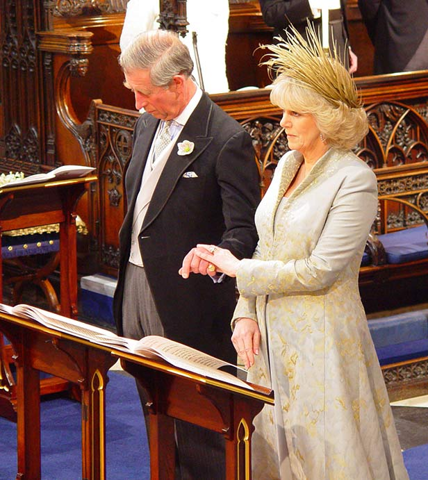 Prince Charles and Camilla at their Windsor Castle blessing.