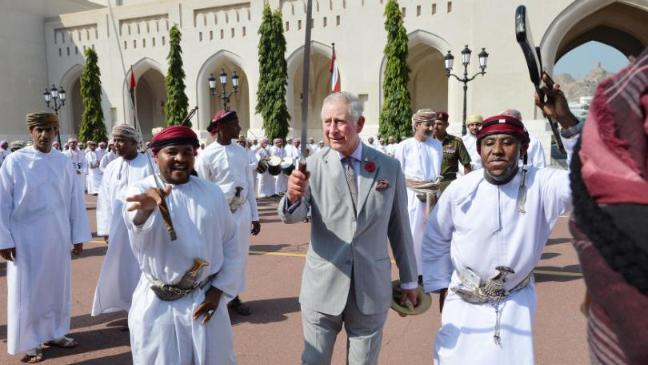 Charles kicks off Middle East tour with a sword dance - BT