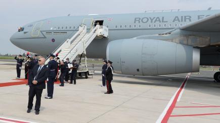 Prince Charles takes VIP jet ahead of Theresa May