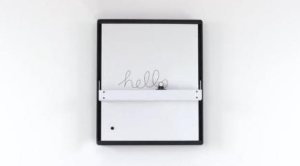 Check out this robotic whiteboard that can recreate your drawings and tweets