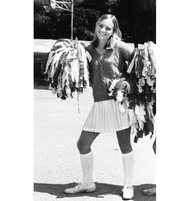 Hearst pictured as a cheerleader during her schooldays in California.