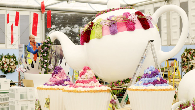 The Time For Tea exhibit at the RHS Chelsea Flower Show