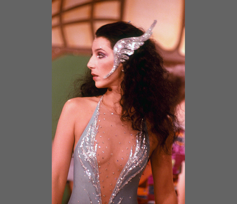 Cher loves a good headpiece, even back in 1966.