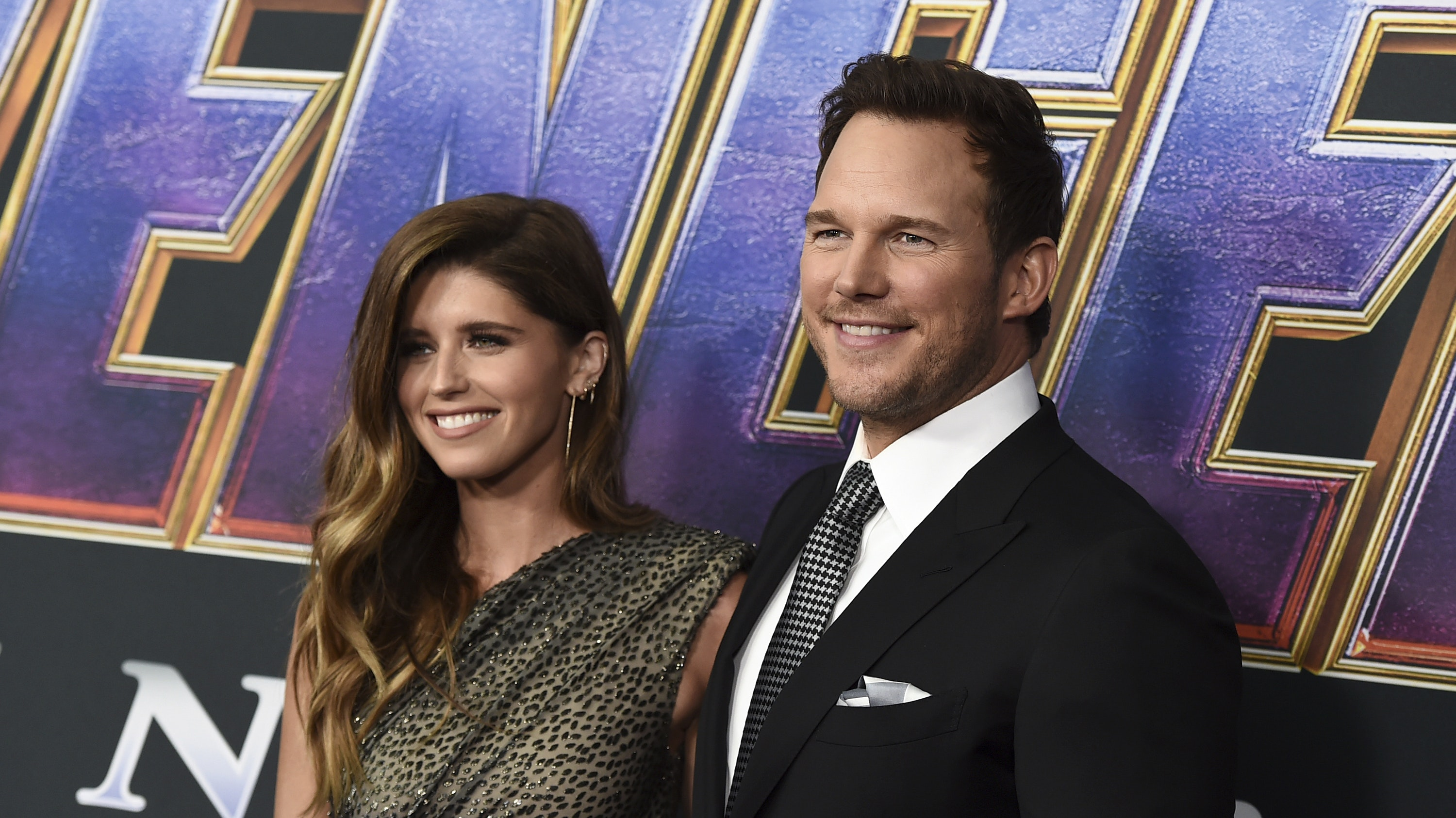 Chris Pratt and Katherine Schwarzenegger at Avengers premiere