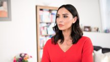 Christine Lampard red jumper