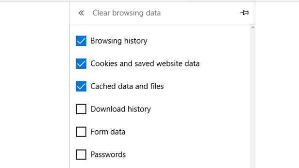 Microsoft Edge browsing data