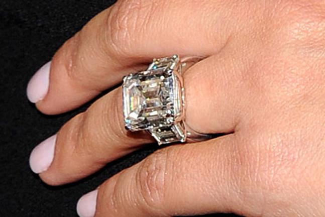 Kim Kardashian Engagement Rings Side By Side