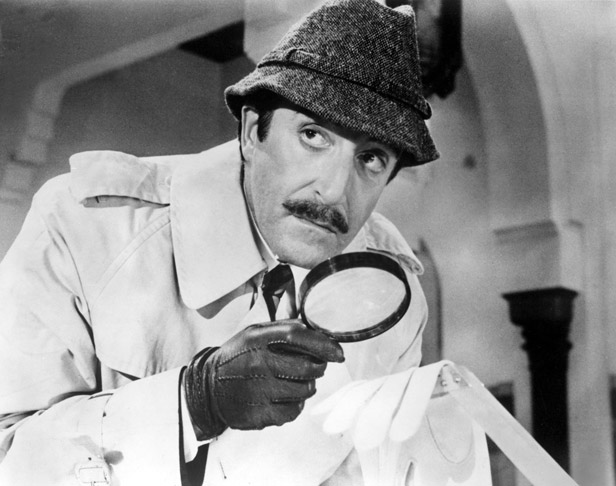 Sellers as much-loved bumbling Inspector Clouseau in the Return of the Pink Panther.
