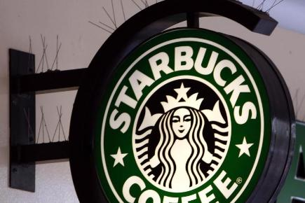 Coffee chain Starbucks reported growing sales in the Americas and Asia