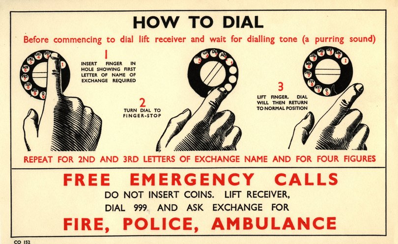 How to dial 999 - BT Archives