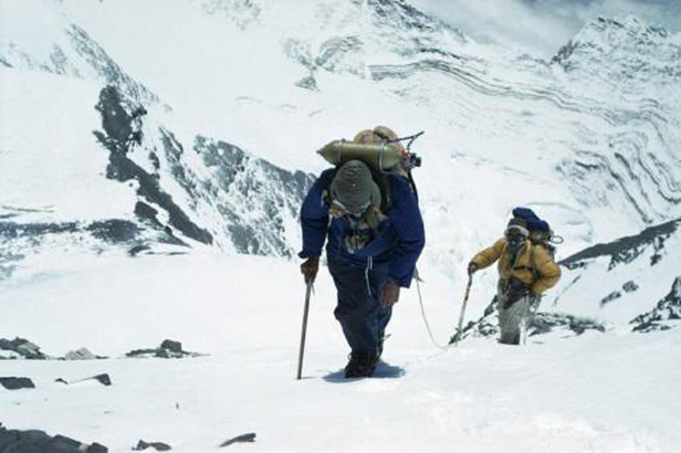 Tenzing and Hillary en route to the top of the world