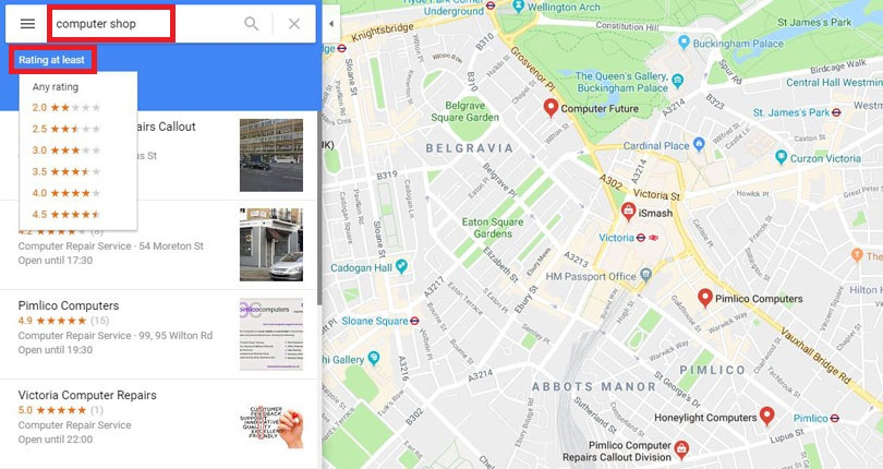 How to use Google Maps to find a nearby computer shop | BT Google Map Nearby on funny google, no google, welcome google, water google, nba google, nfl google,