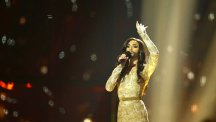 Conchita Wurst wins the Eurovision Song Contest for Austria.  Pic: Rolf Klatt/REX