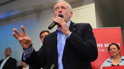 Corbyn hijacks May's Facebook Live event to issue TV debate challenge
