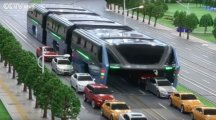 Could this futuristic bus be the solution to China's traffic jams?