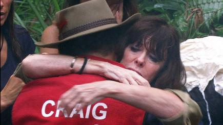 Tears for grieving Craig Charles as he exits jungle