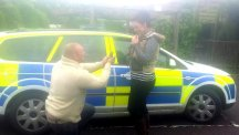 Caine Hutchings proposing to Emily Dukeson after crashing his car