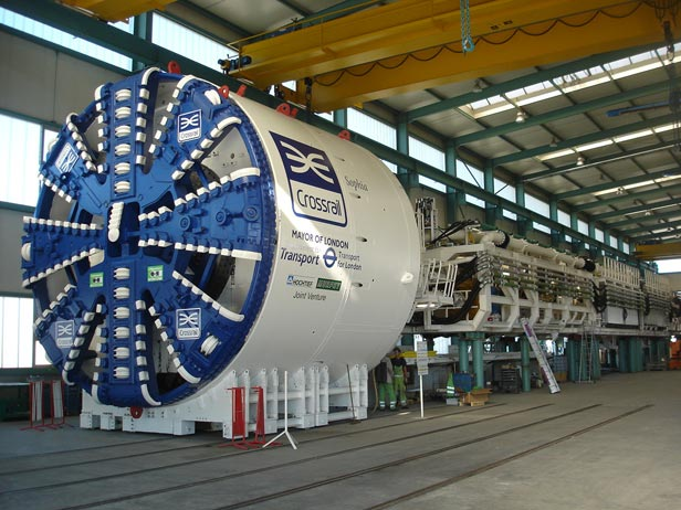 Crossrail boaring machine